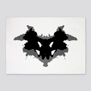 Rorschach Test 5'x7'Area Rug