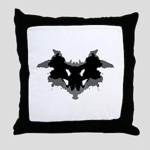 Rorschach Test Throw Pillow