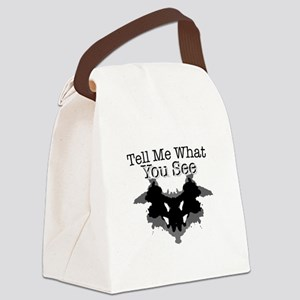 What You See Canvas Lunch Bag