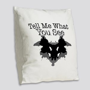 What You See Burlap Throw Pillow