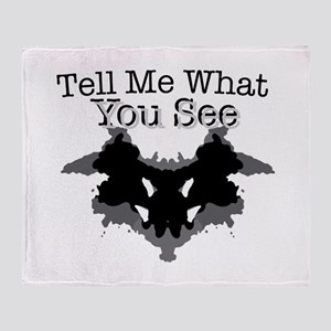 What You See Throw Blanket