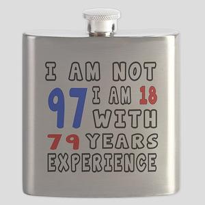 I am not 97 Birthday Designs Flask