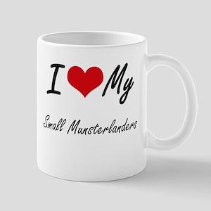 I Love My Small Munsterlanders Mugs
