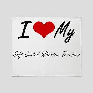 I Love My Soft-Coated Wheaten Terrie Throw Blanket