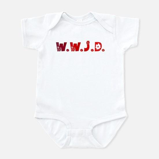 Red Hippie WWJD Infant Bodysuit