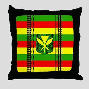 Tribal Kanaka Maoli Throw Pillow