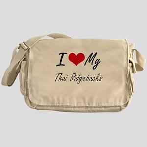 I Love My Thai Ridgebacks Messenger Bag