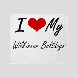 I Love My Wilkinson Bulldogs Throw Blanket