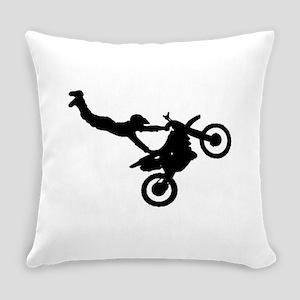 motorcross bike jumping Everyday Pillow