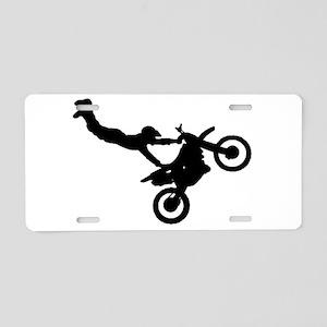 motorcross bike jumping Aluminum License Plate