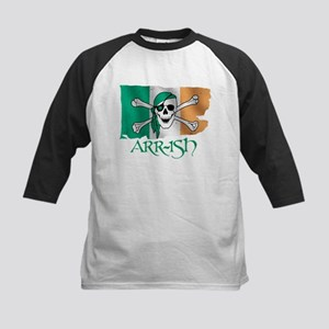 Arr-ish Pirate Kids Baseball Jersey