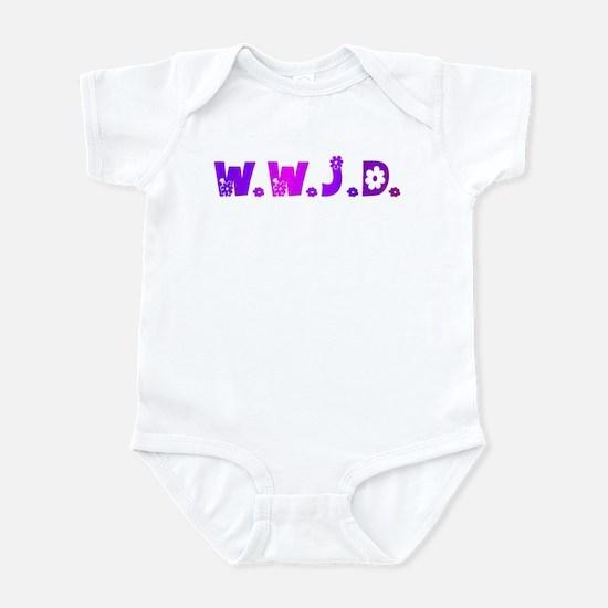 Purple Hippie WWJD Infant Bodysuit