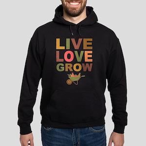 Live Love Grow Hoodie (dark)