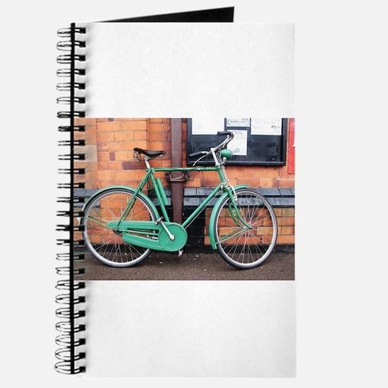 Green Bicycle Vintage Journal