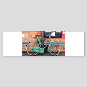 Green Bicycle Vintage Bumper Sticker
