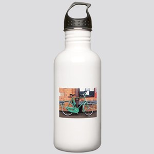 Green Bicycle Vintage Stainless Water Bottle 1.0L