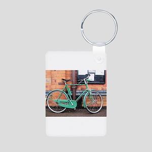 Green Bicycle Vintage Keychains