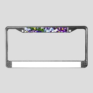 Pansies License Plate Frame