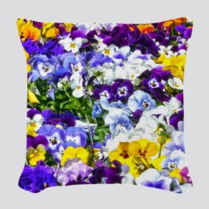 Pansies Woven Throw Pillow