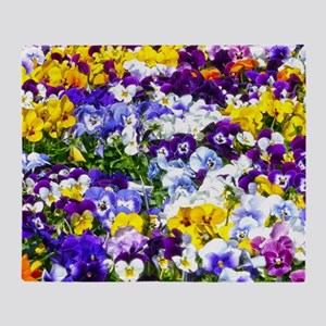 Pansies Throw Blanket