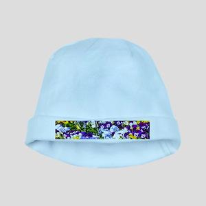 Pansies baby hat
