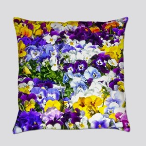 Pansies Everyday Pillow