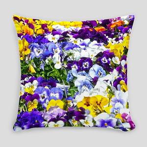 Pansies Everyday Pillow