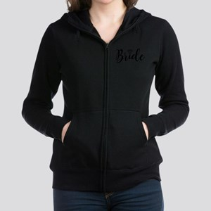 Chic Typography - Bride Women's Zip Hoodie