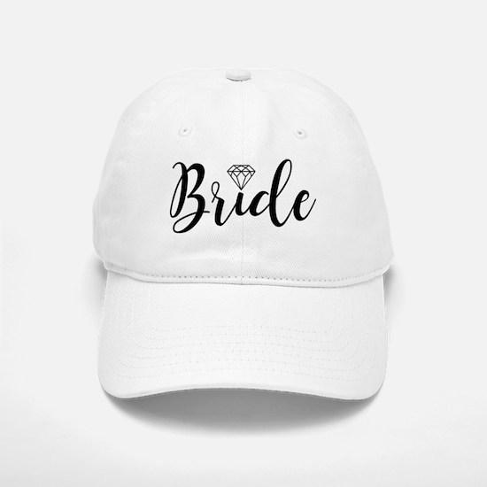 Chic Typography - Bride Baseball Baseball Cap
