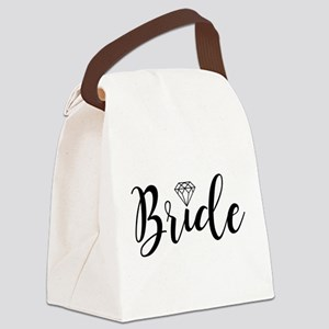 Chic Typography - Bride Canvas Lunch Bag