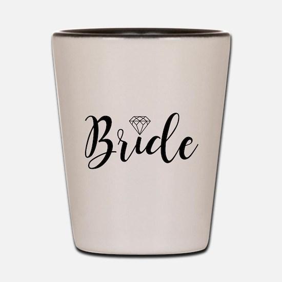 Chic Typography - Bride Shot Glass