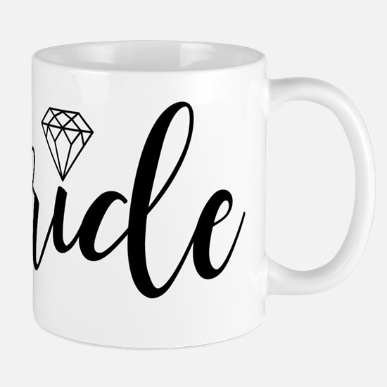 Chic Typography - Bride Mugs