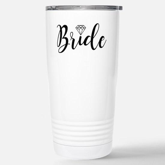 Chic Typography - Bride Stainless Steel Travel Mug