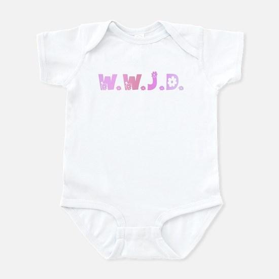 Pink Hippie WWJD Infant Bodysuit