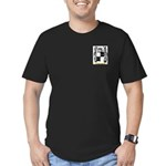 Patching Men's Fitted T-Shirt (dark)