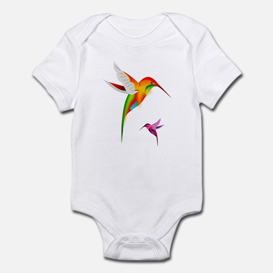 Colorful Hummingbirds Birds Body Suit