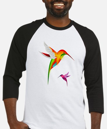 Colorful Hummingbirds Birds Baseball Jersey