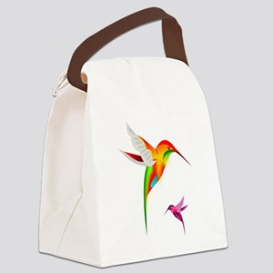 Colorful Hummingbirds Birds Canvas Lunch Bag