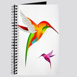 Colorful Hummingbirds Birds Journal