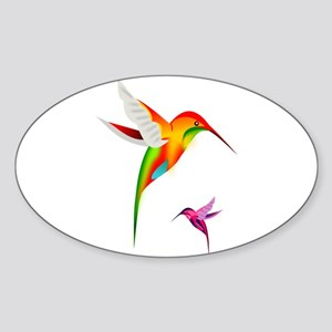 Colorful Hummingbirds Birds Sticker