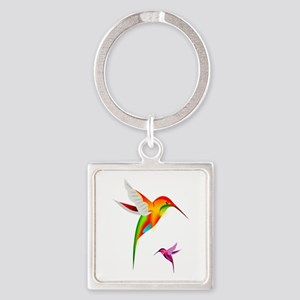 Colorful Hummingbirds Birds Keychains