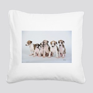 Whippets puppies Square Canvas Pillow