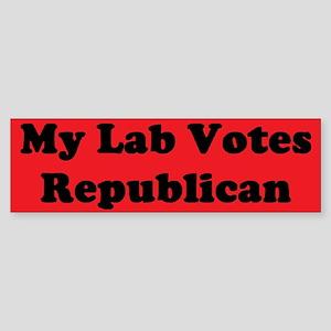 Lab Votes Repub Bumper Sticker