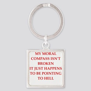 moral compass Keychains