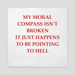 moral compass Queen Duvet