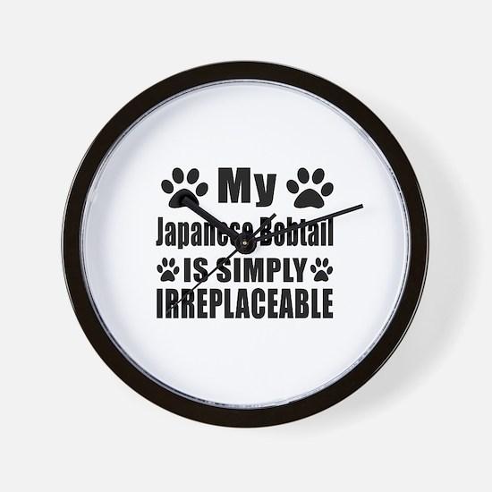 My Japanese Bobtail cat is simply irrep Wall Clock