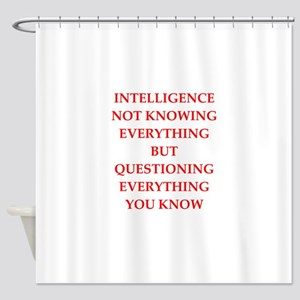 intelligence Shower Curtain