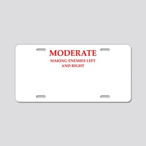 moderate Aluminum License Plate