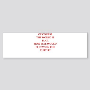 flat,earth,society Bumper Sticker