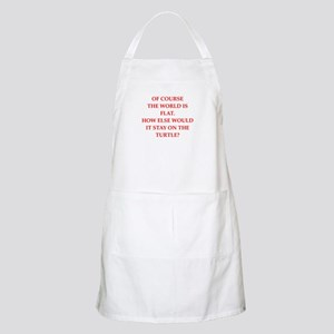 flat,earth,society Apron